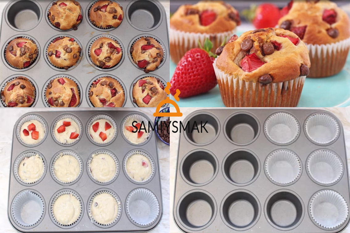 Кексы с ягодами - рецепт пошаговый с фото