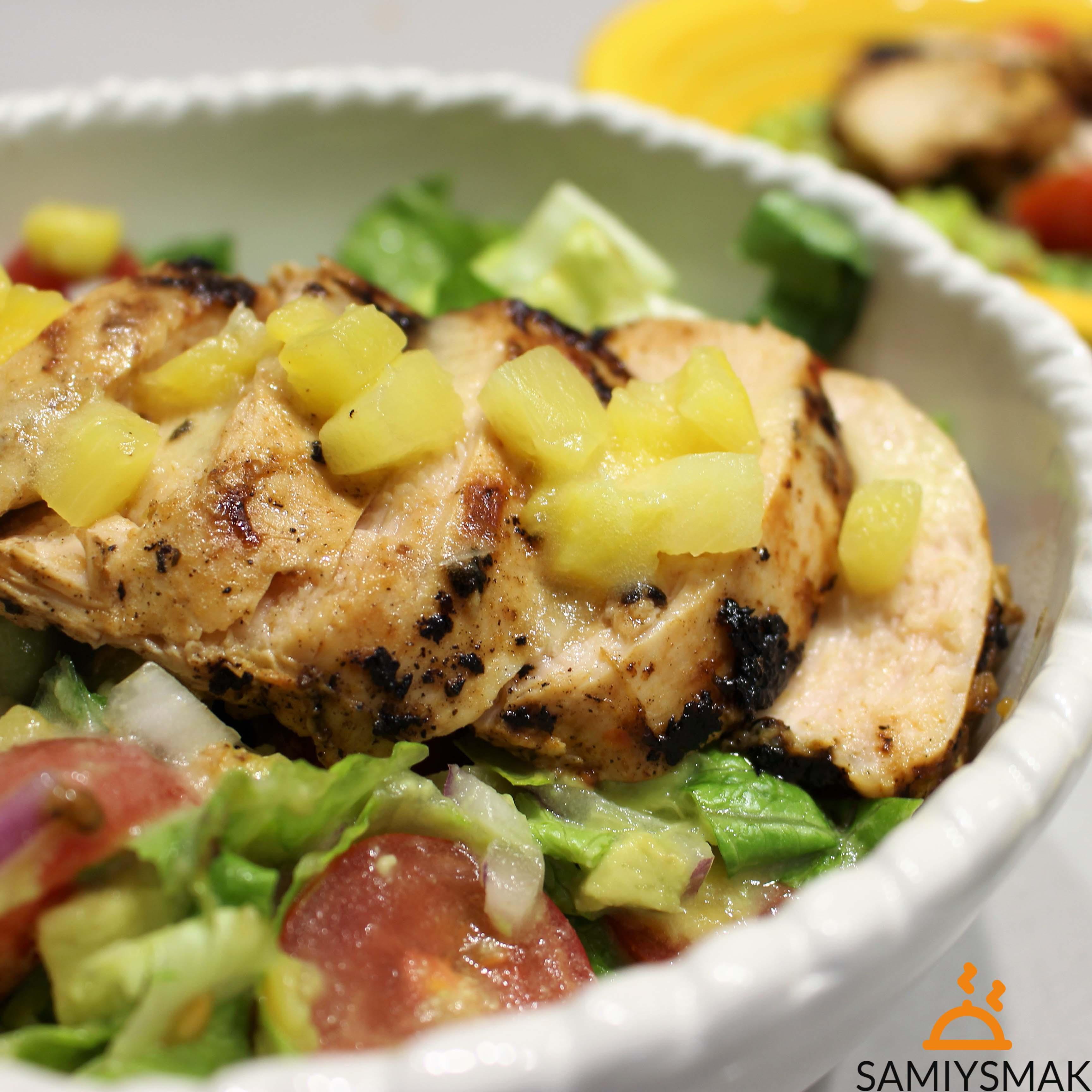 Рецепт курицы с ананасами