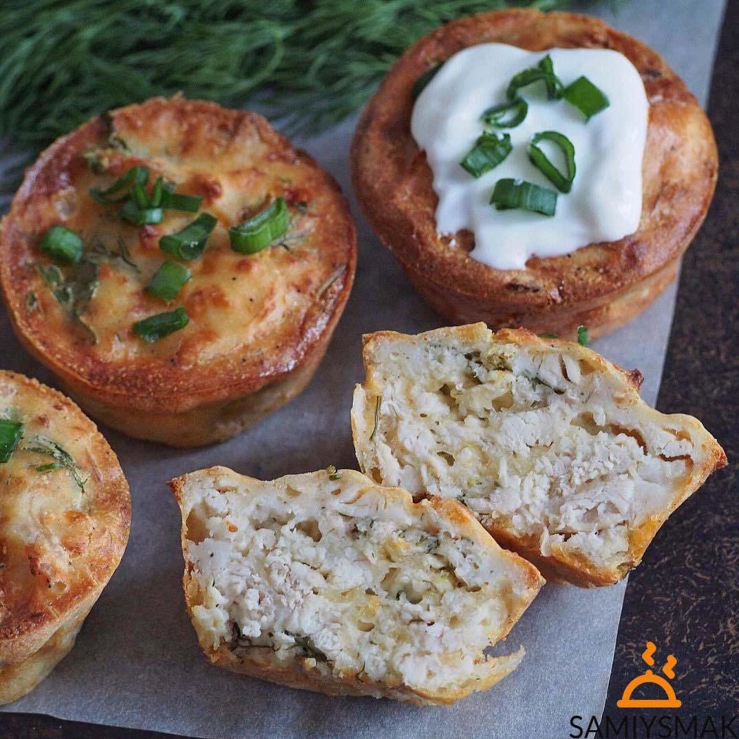 Маффины с грибами на закуску