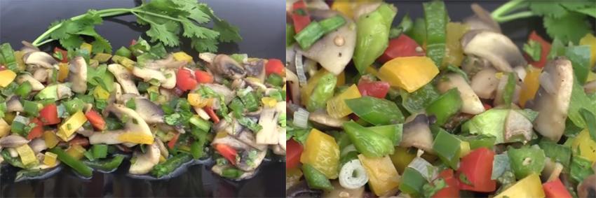 Праздничный салат с солеными грибами