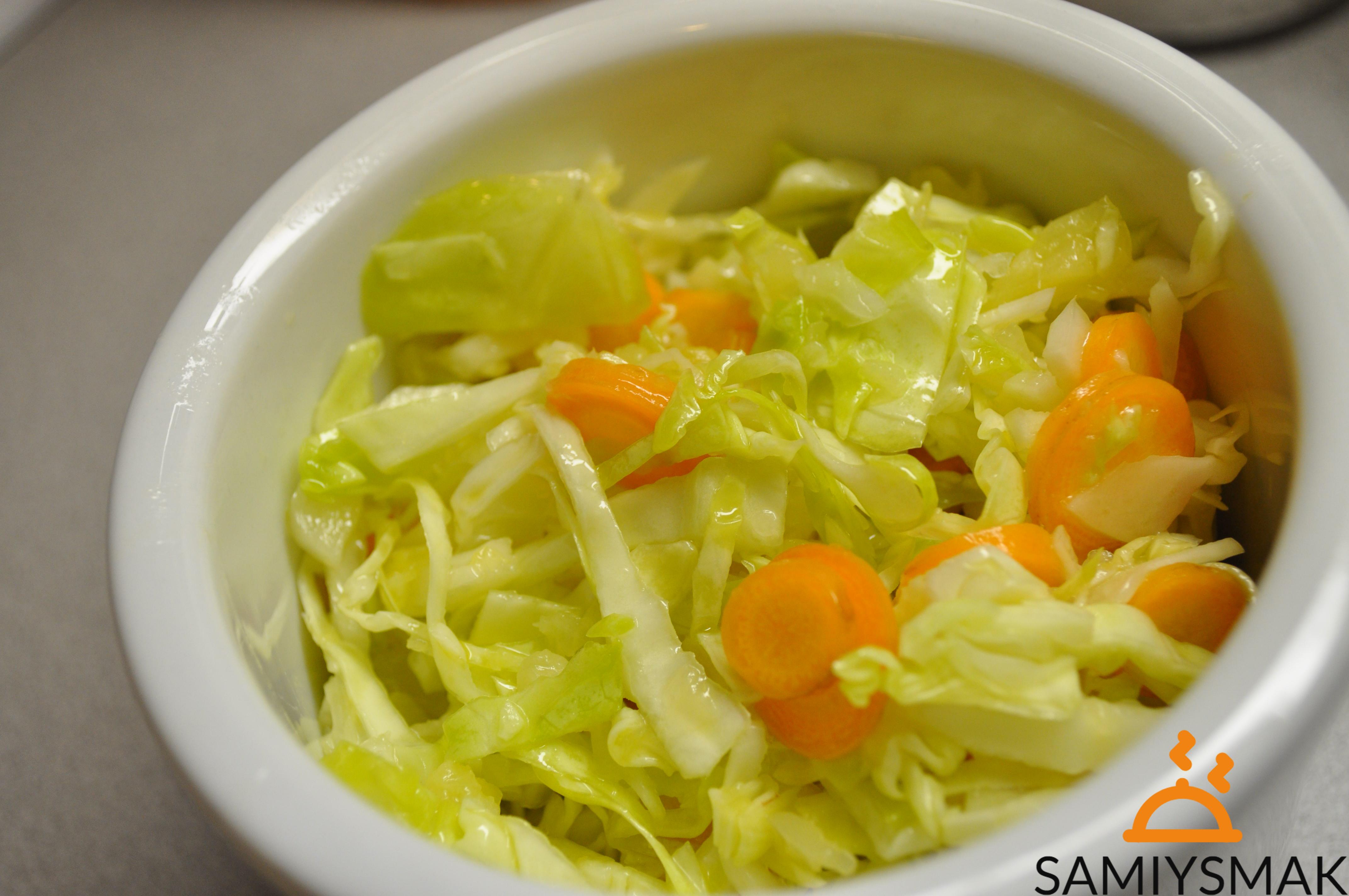 Салат из капусты летом