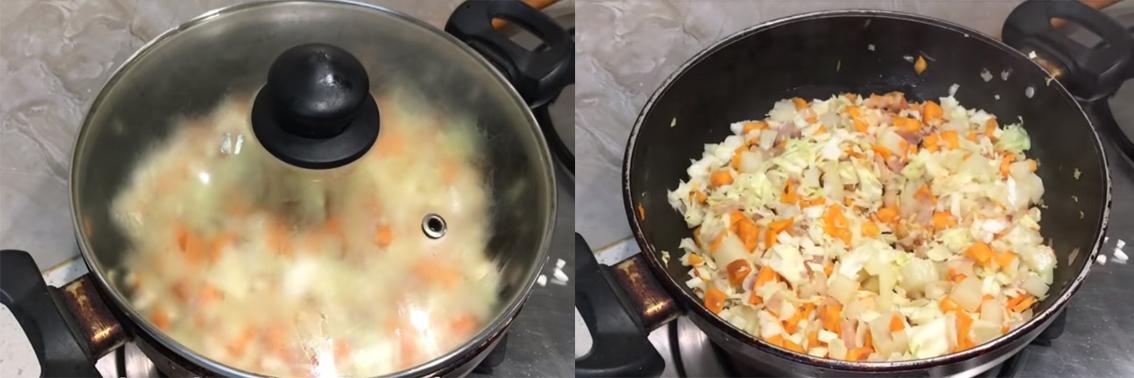Тушить начинку для самсы