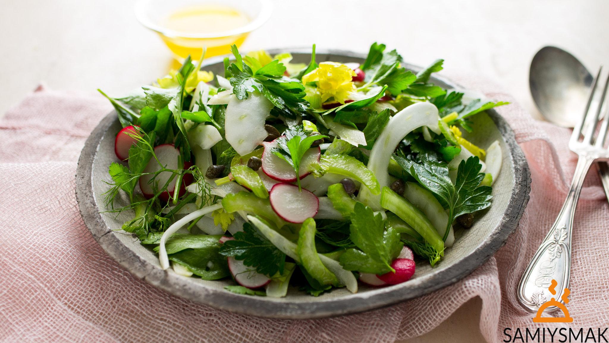 Простой салат огурцы