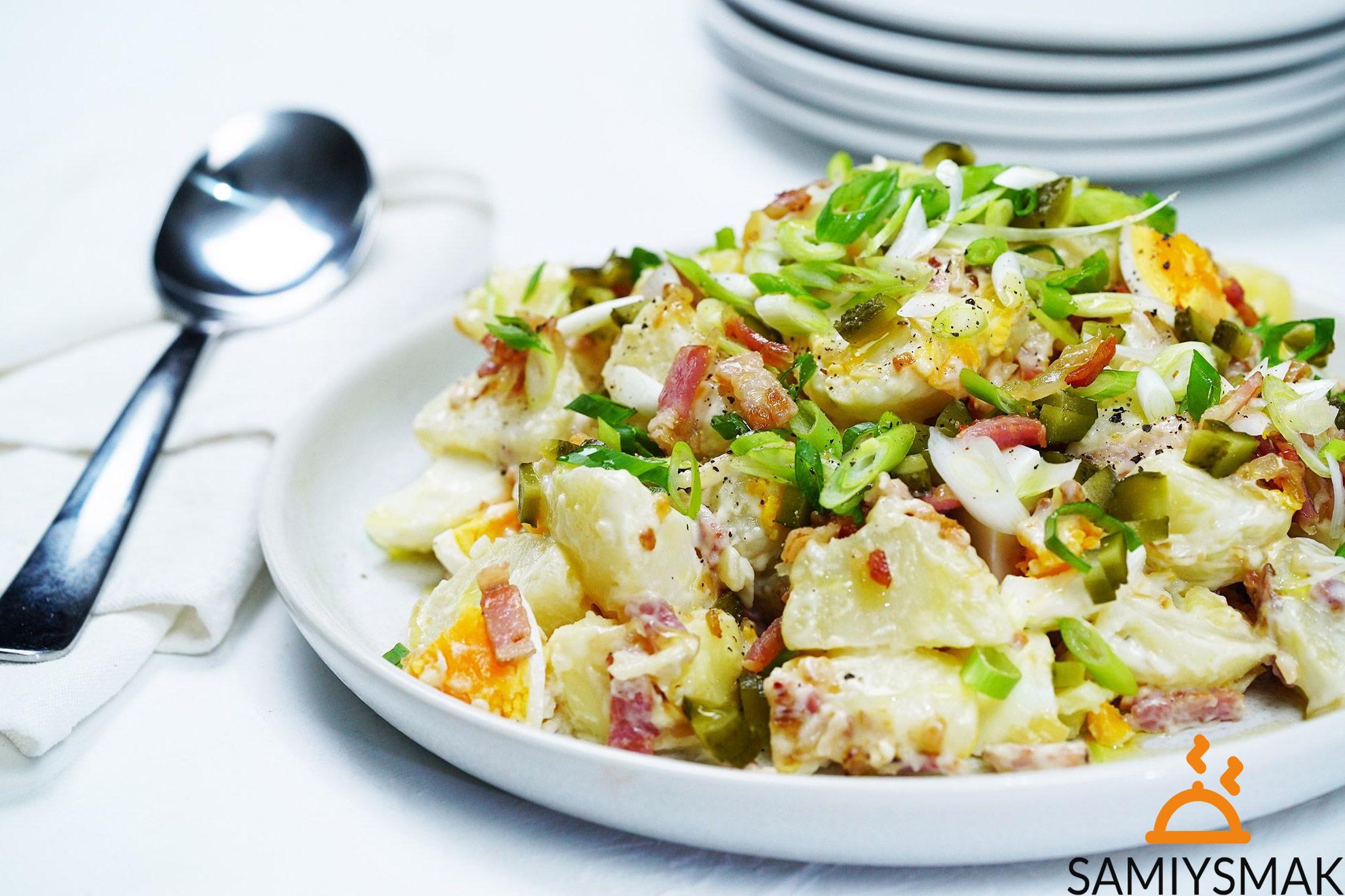 Рецепт недорогого салата с картофелем