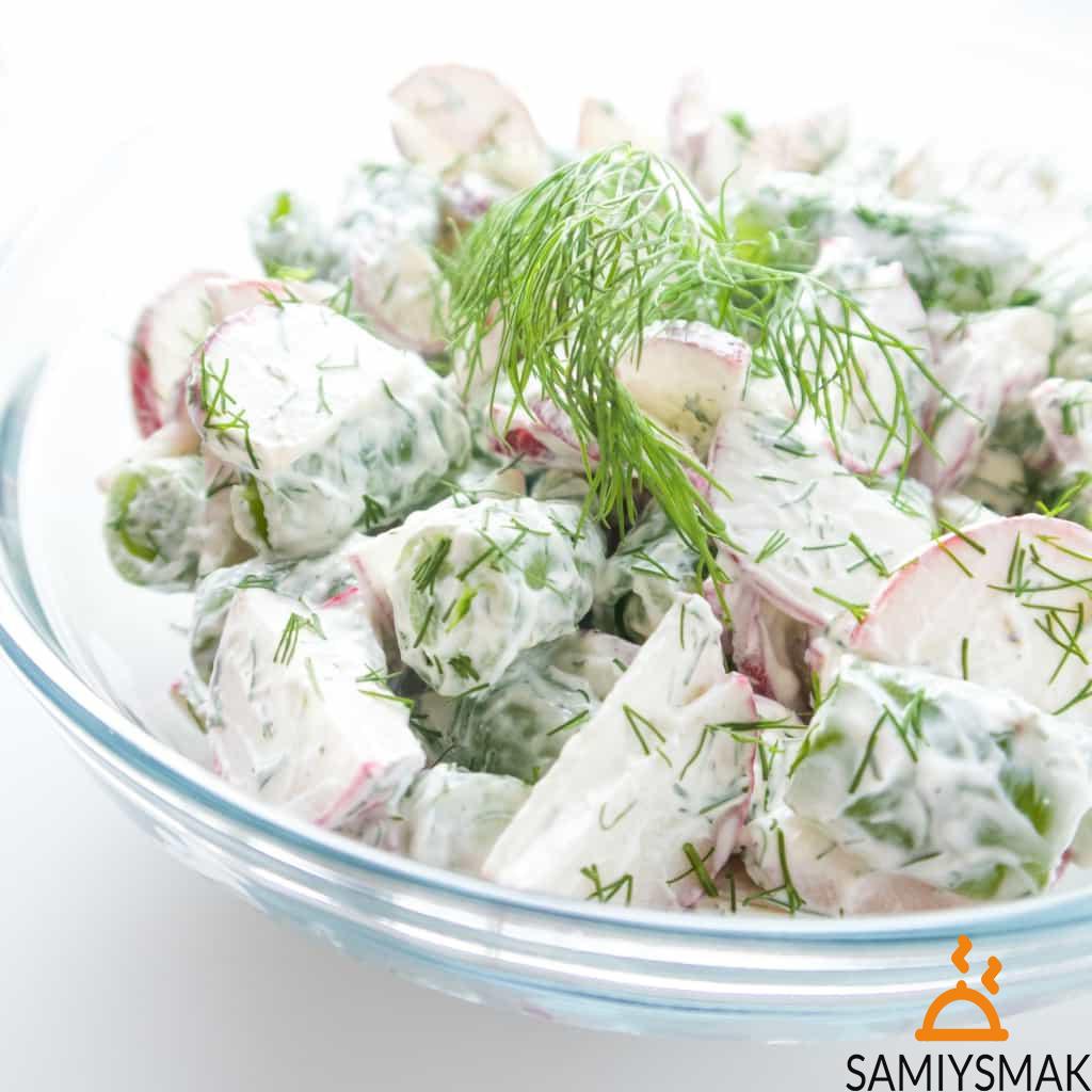 Быстрые салаты из редиса