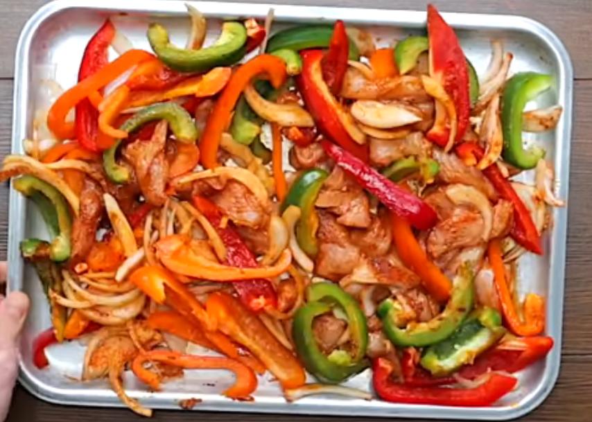 Овощи после запекания