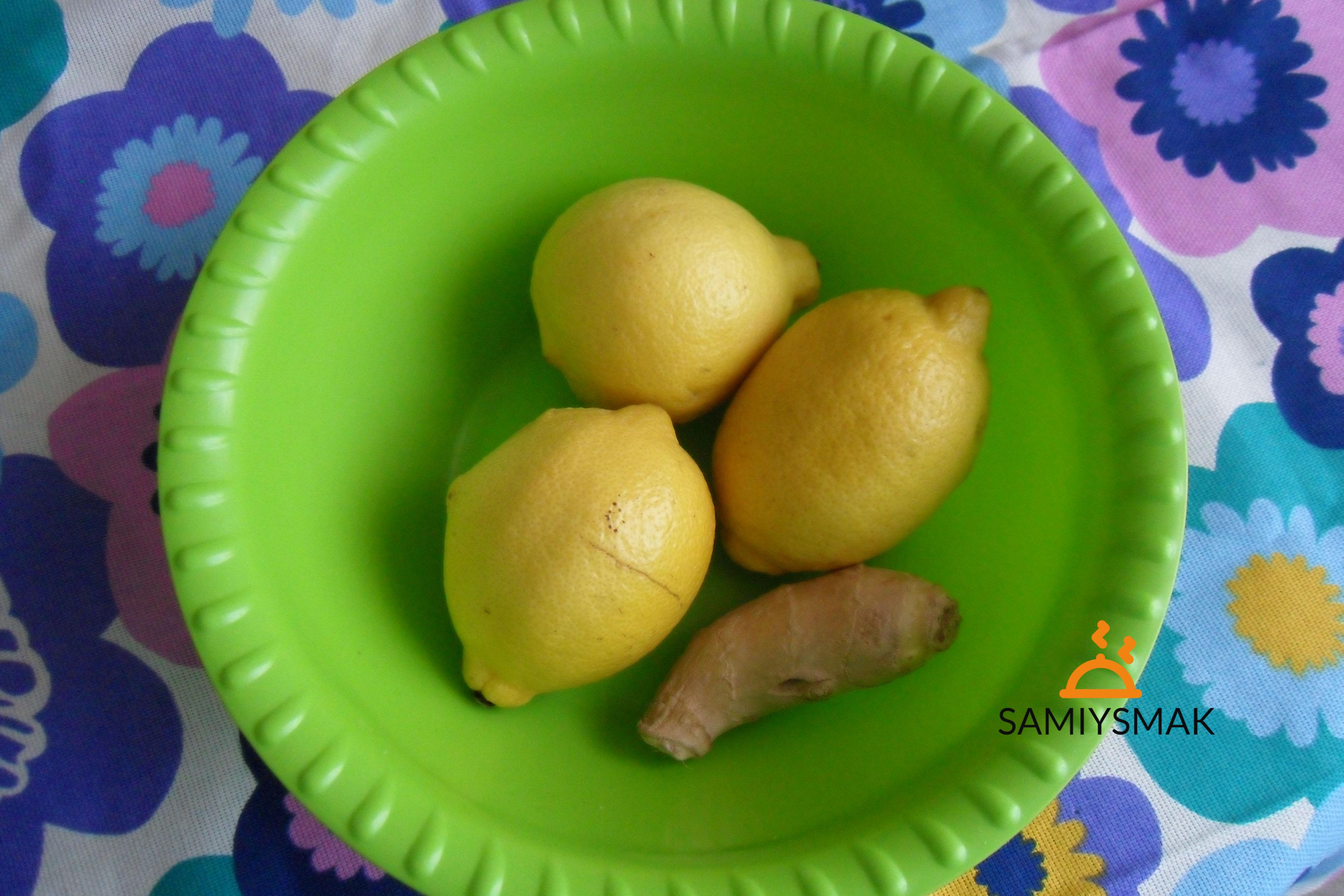 Лимоны и имбирь в чаше
