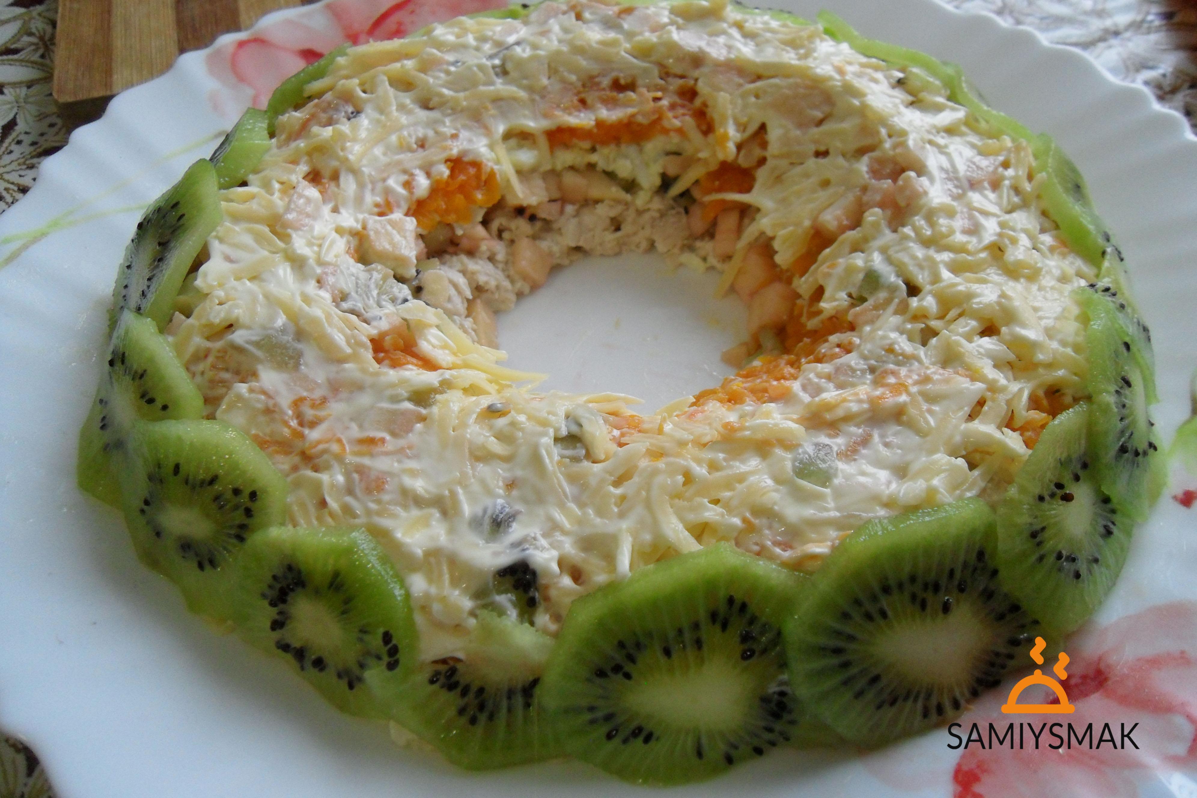 салат малахитовый браслет с киви фото рецепт обычная каша