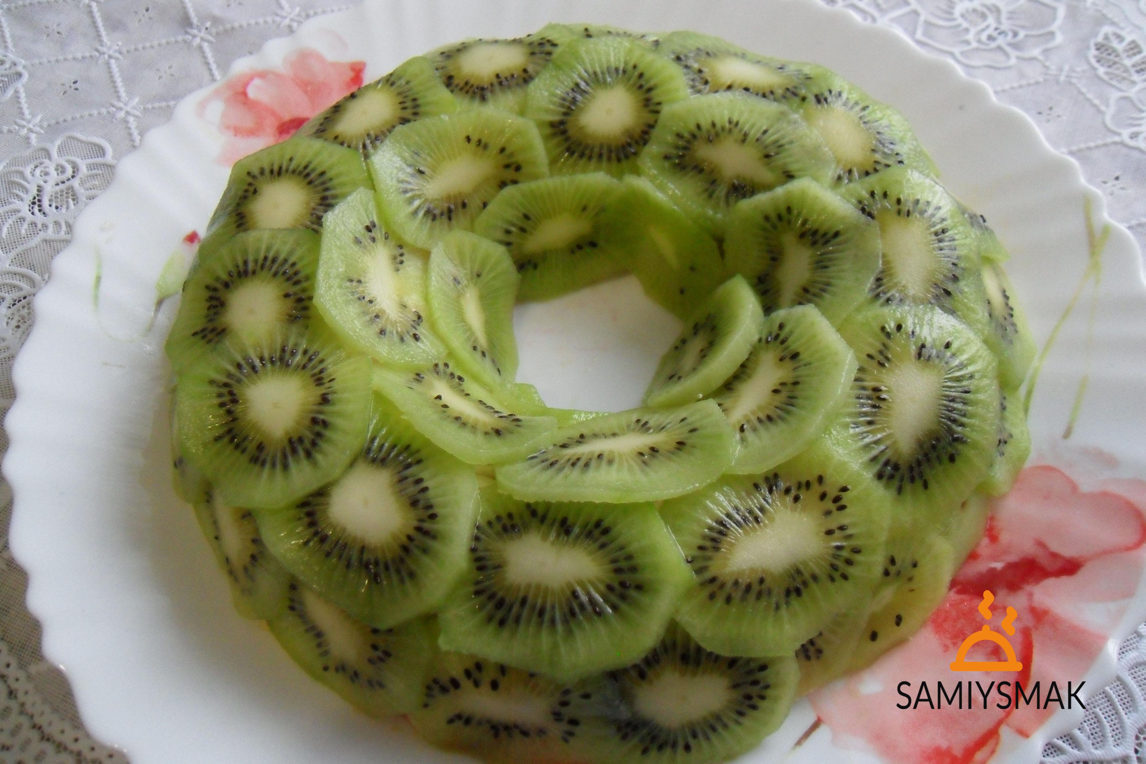 Салат малахитовый браслет с киви фото рецепт