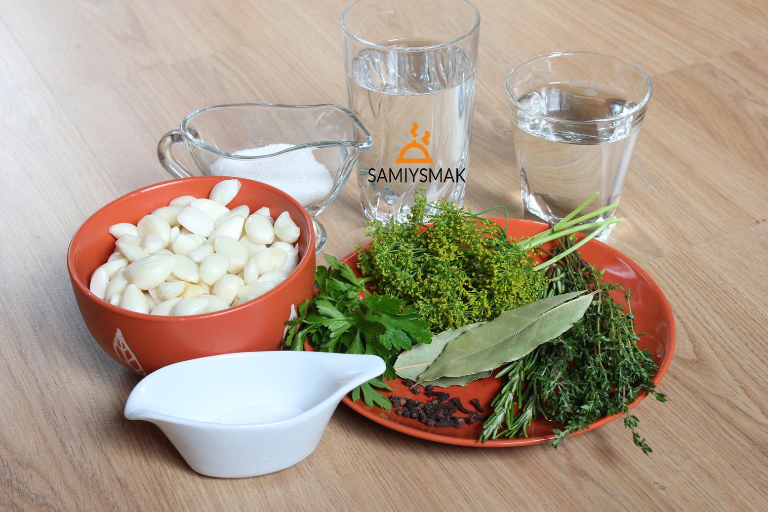 Ингредиенты для чеснока