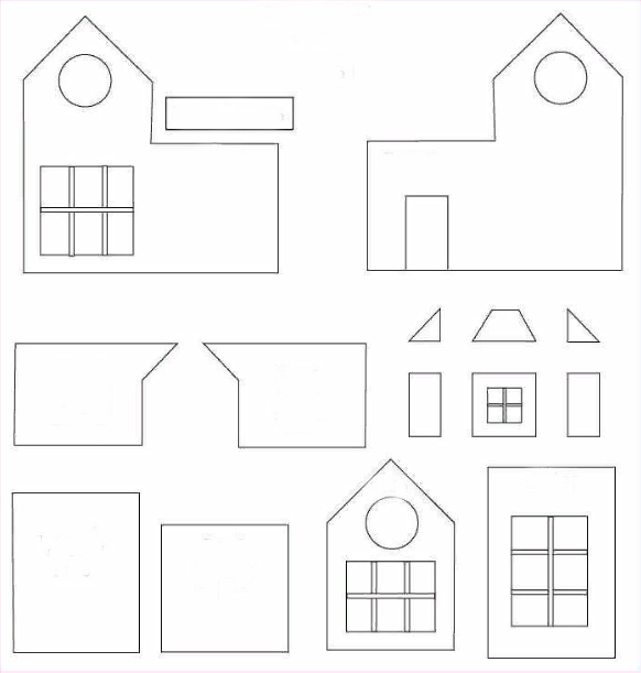Схема для дома из пряников