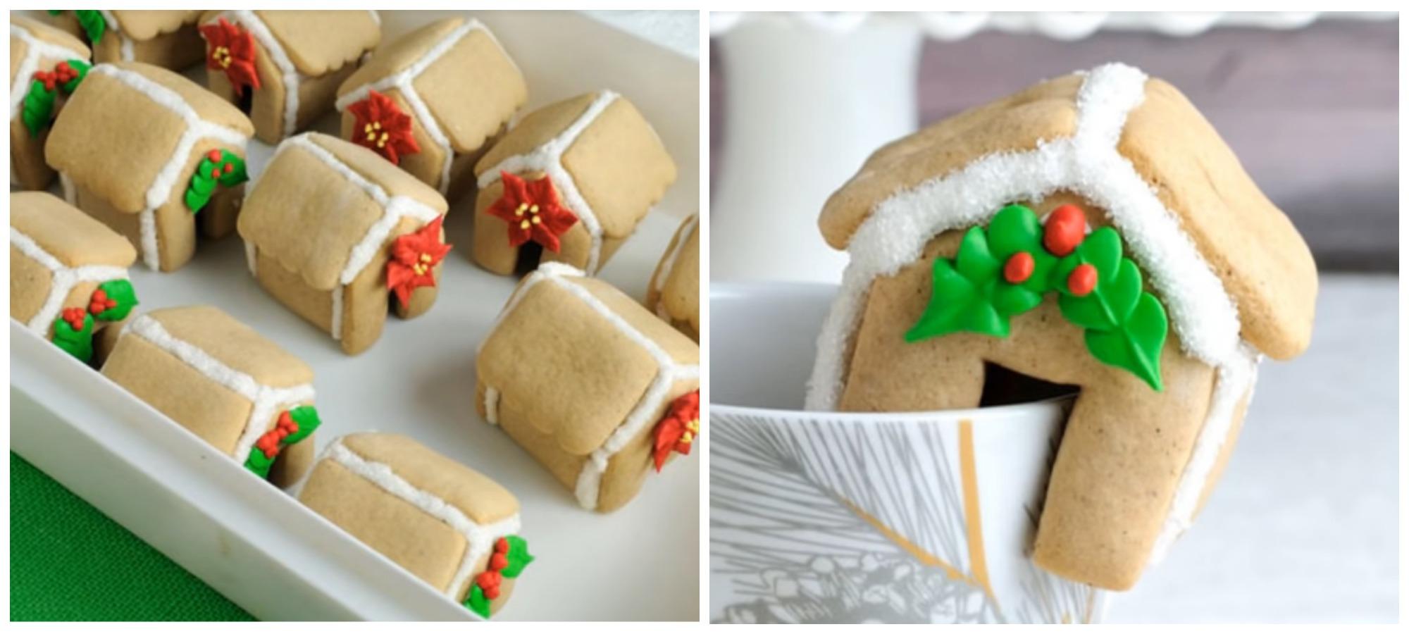 Фото домиков из печенья