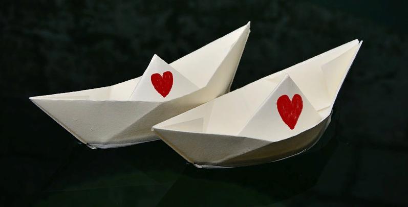 Валентинки в виде корабликов