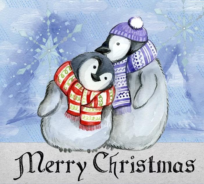 Поздравление с Рождеством от пингвинов