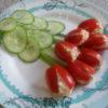 Салат в виде тюльпанов