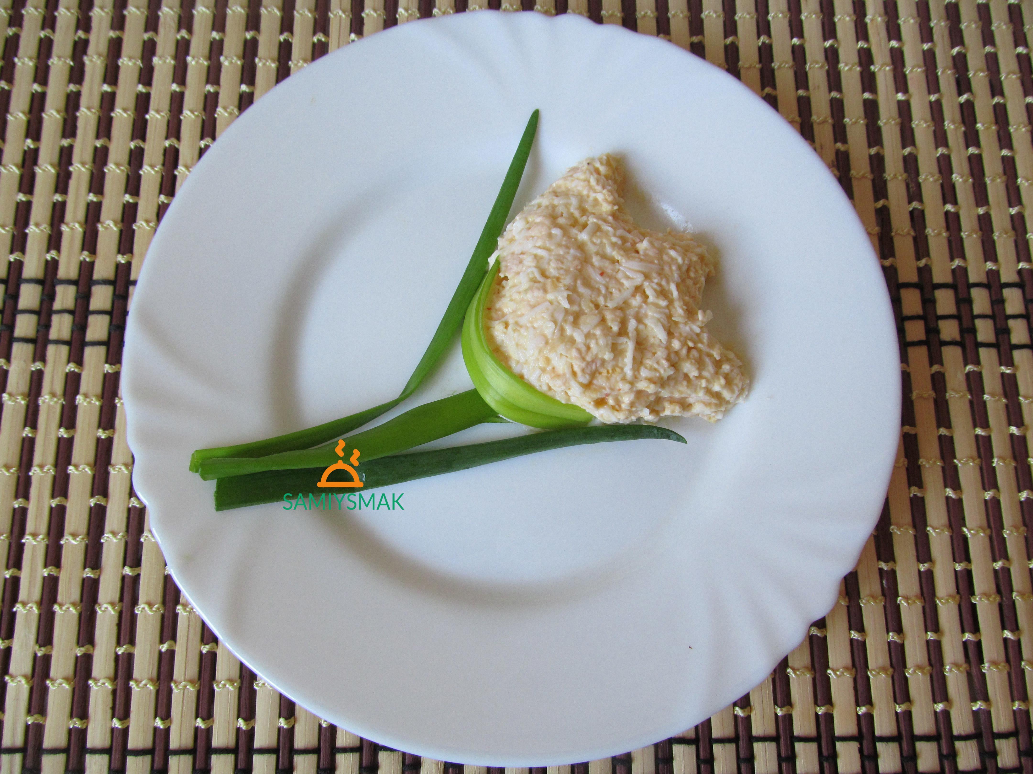 Салат в виде цветка