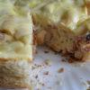 Пирог из хлеба с сыром и беконом