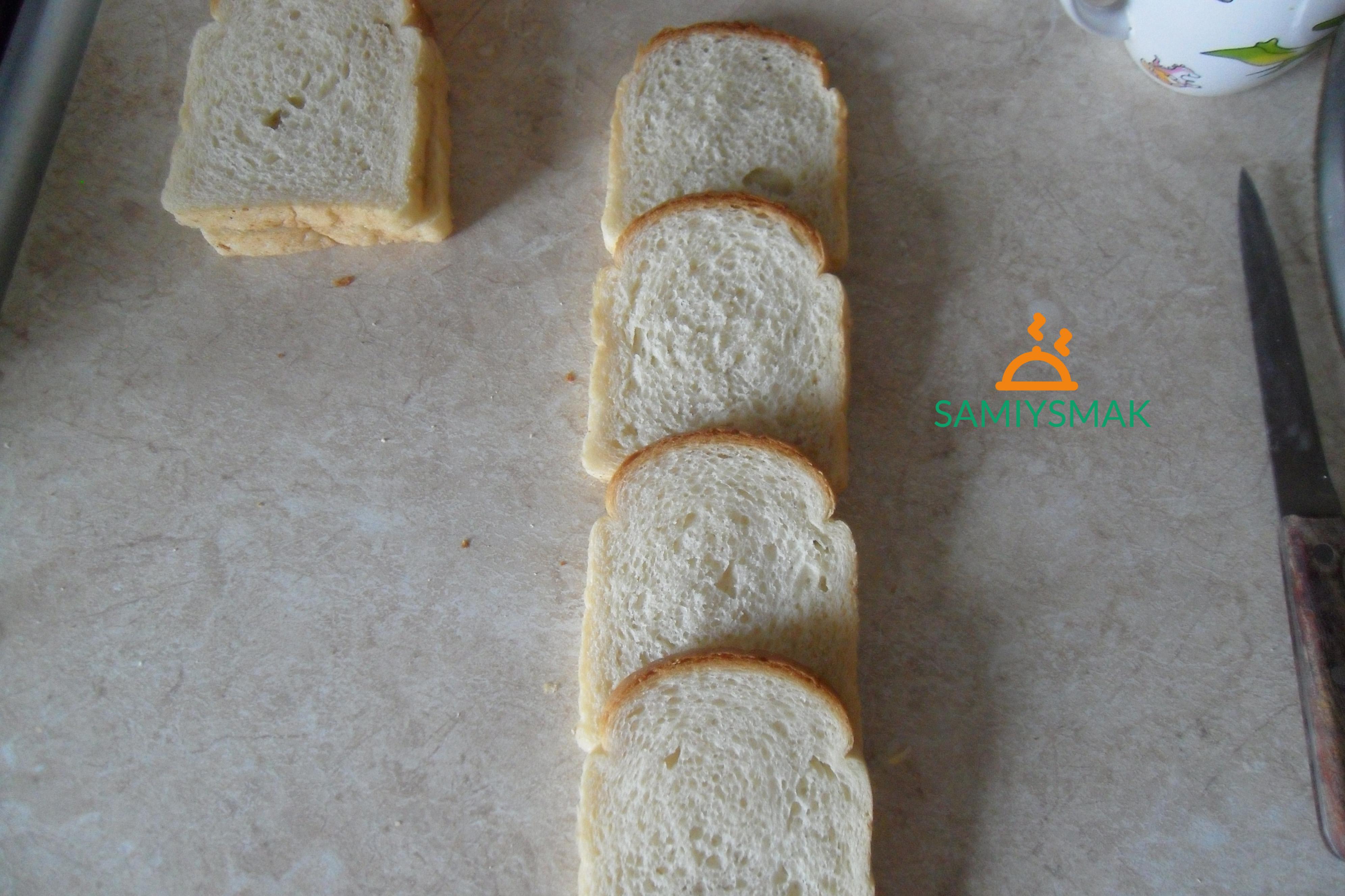 Хлеб внахлест для запеканки
