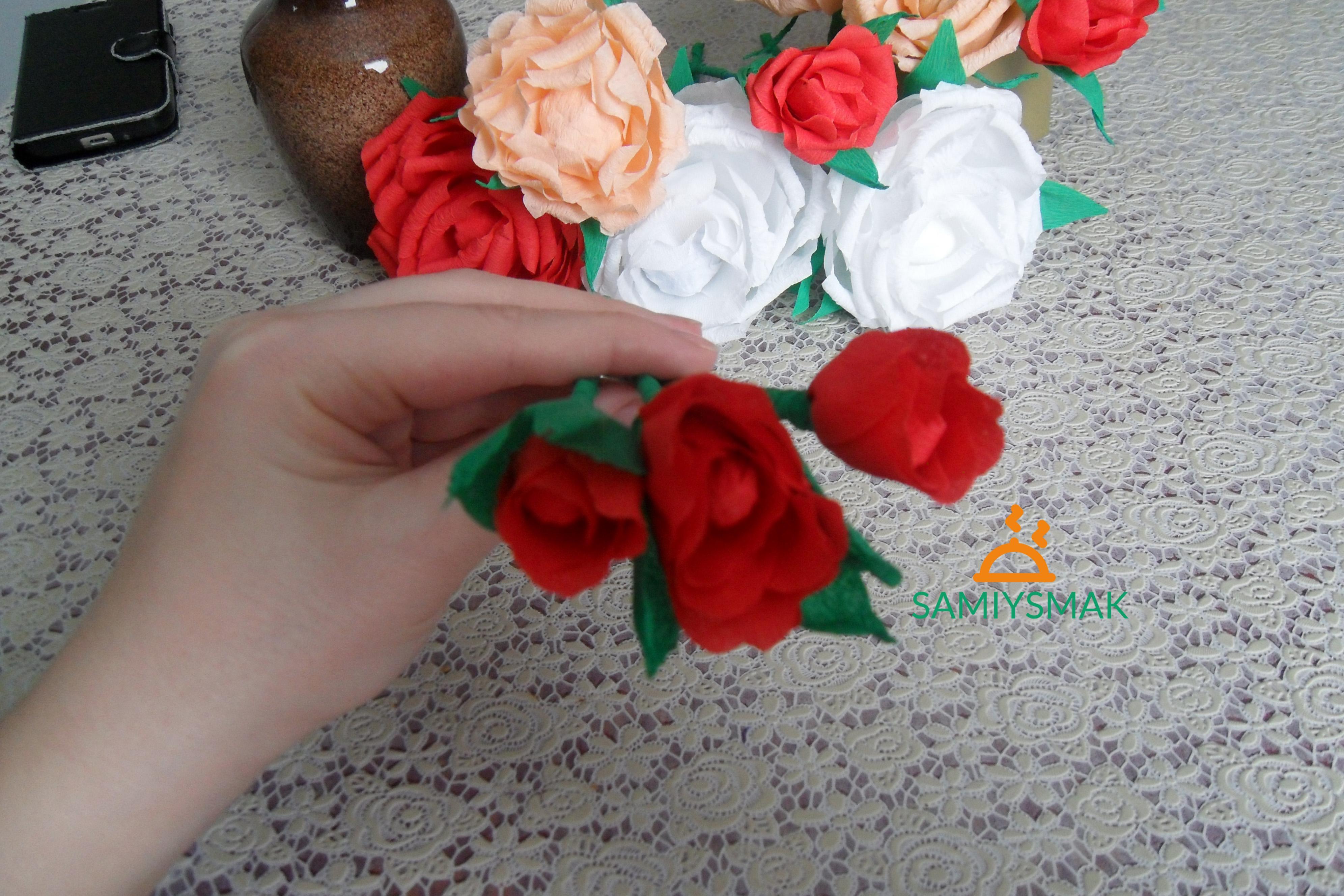 Бутоны красной розы