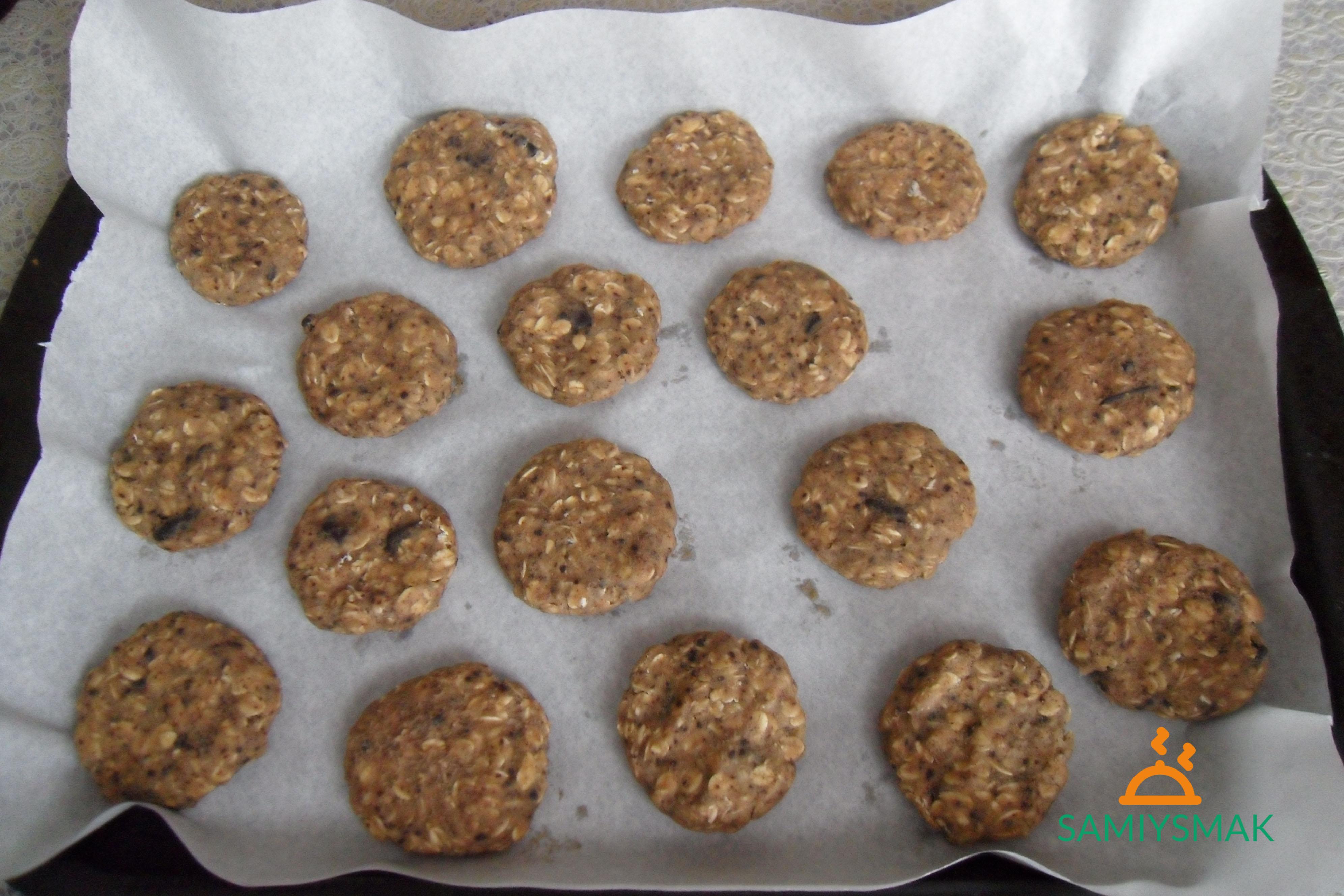 Заготовки печений на бумаге