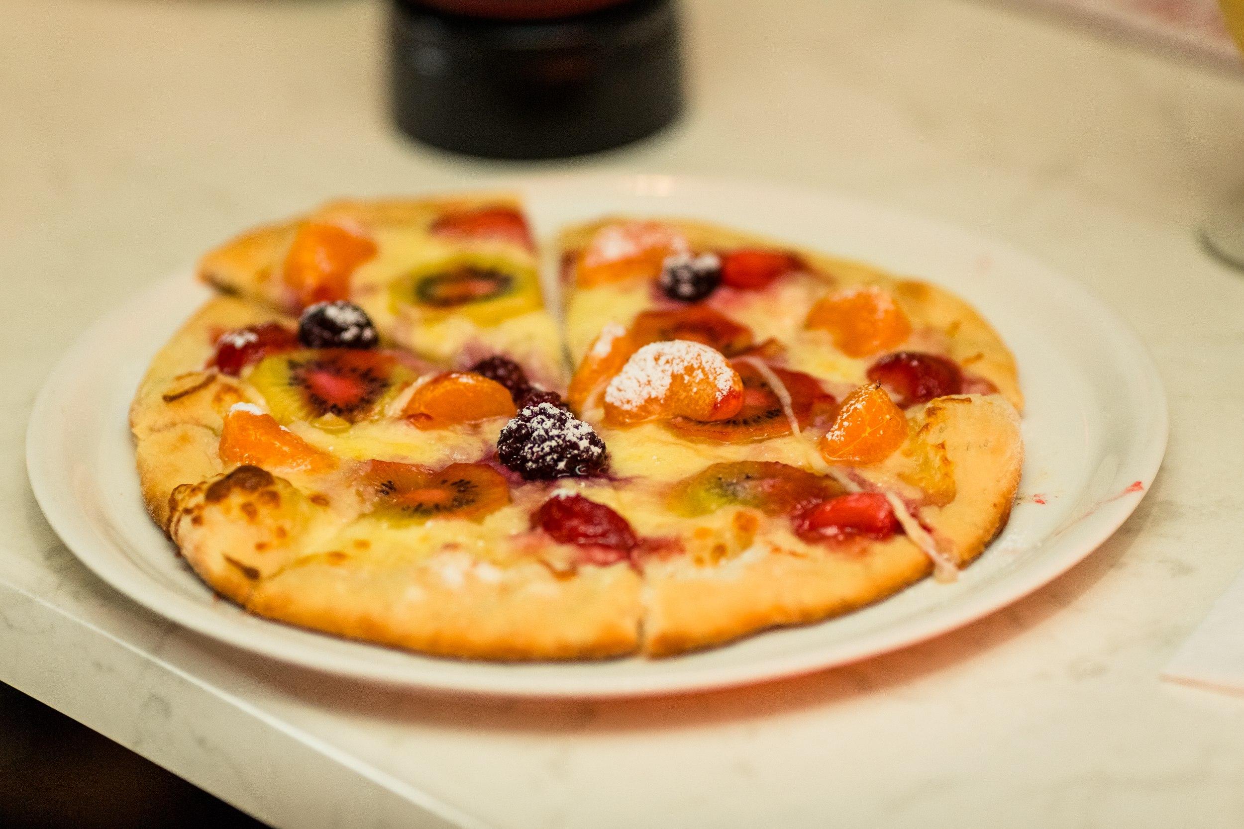 Фруктовая пицца дома