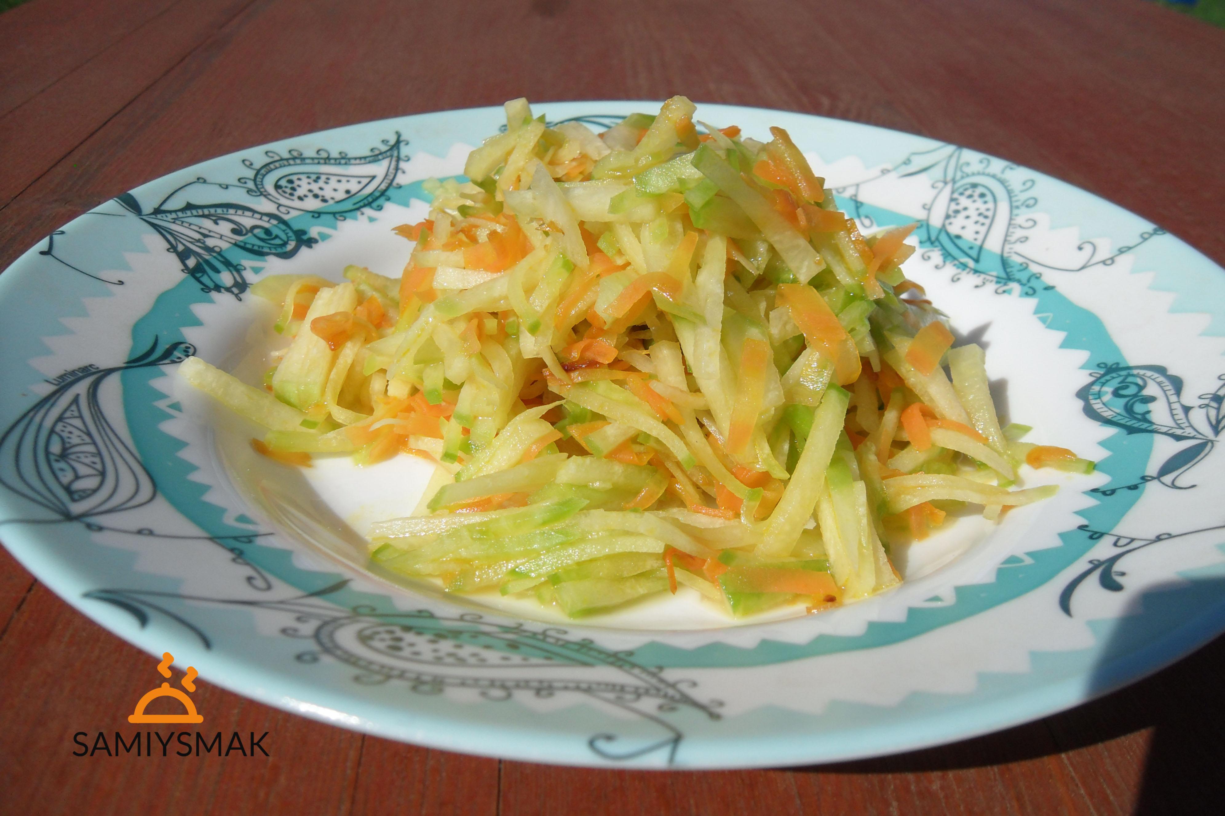 Салат из редьки с маслом