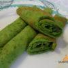 Зеленые блины со шпинатом