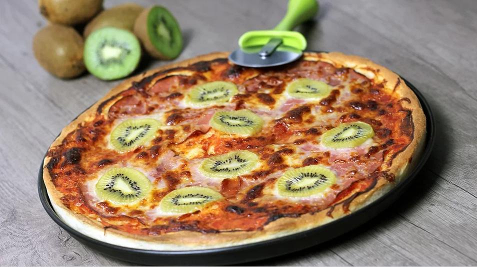 Десертная пицца с киви
