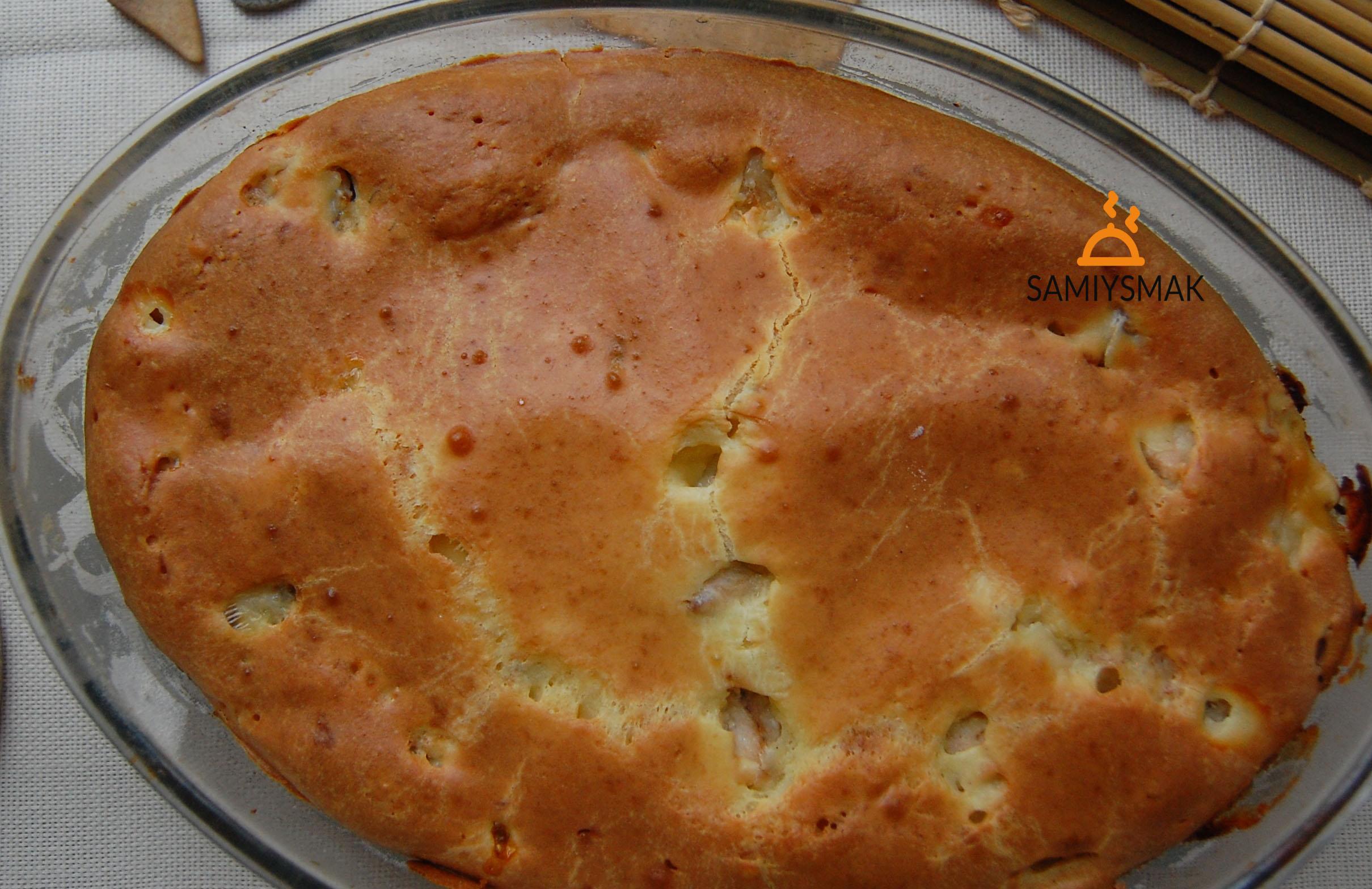 Румяный пирог с копченой горбушей