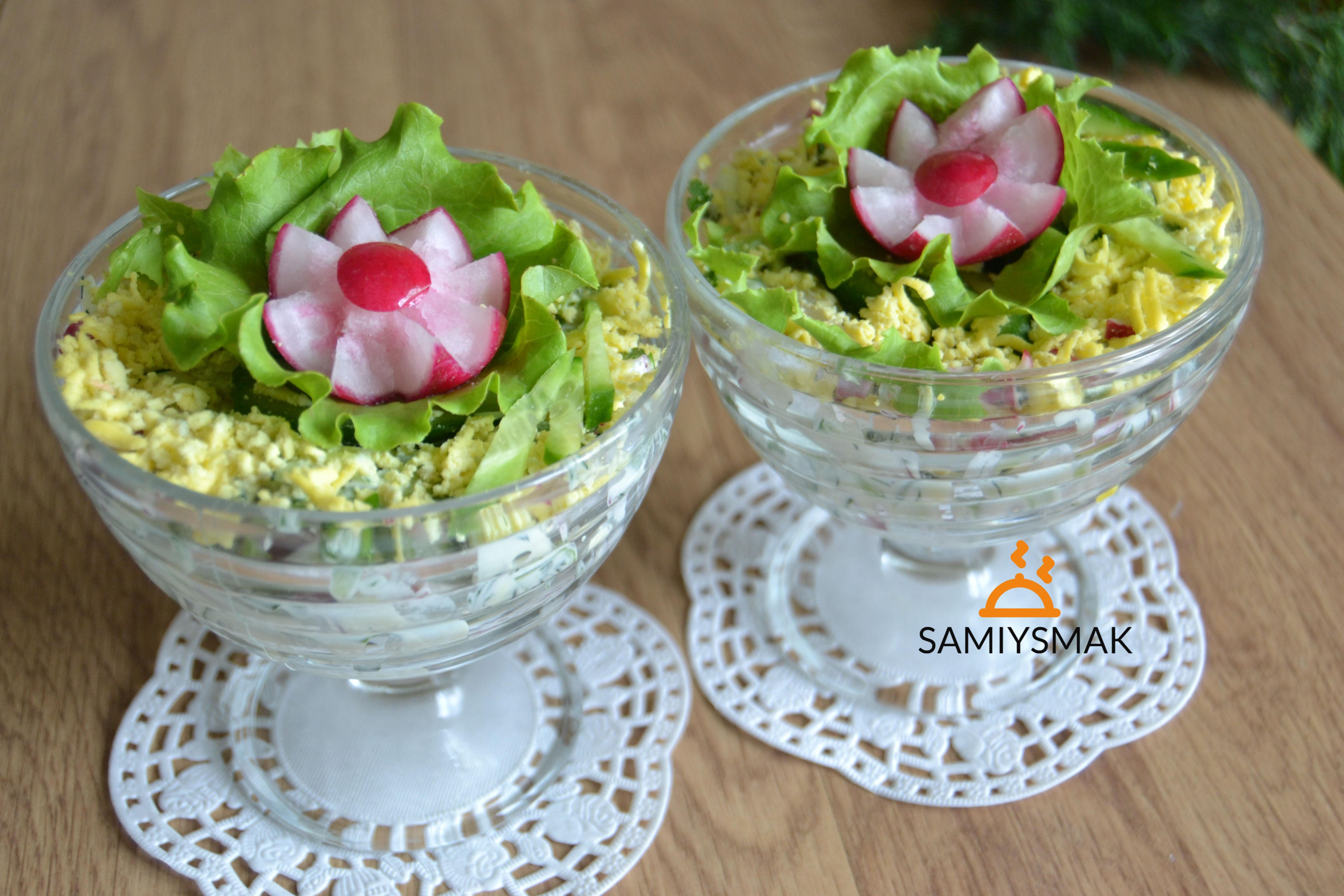 Фуршетный салат с редиской