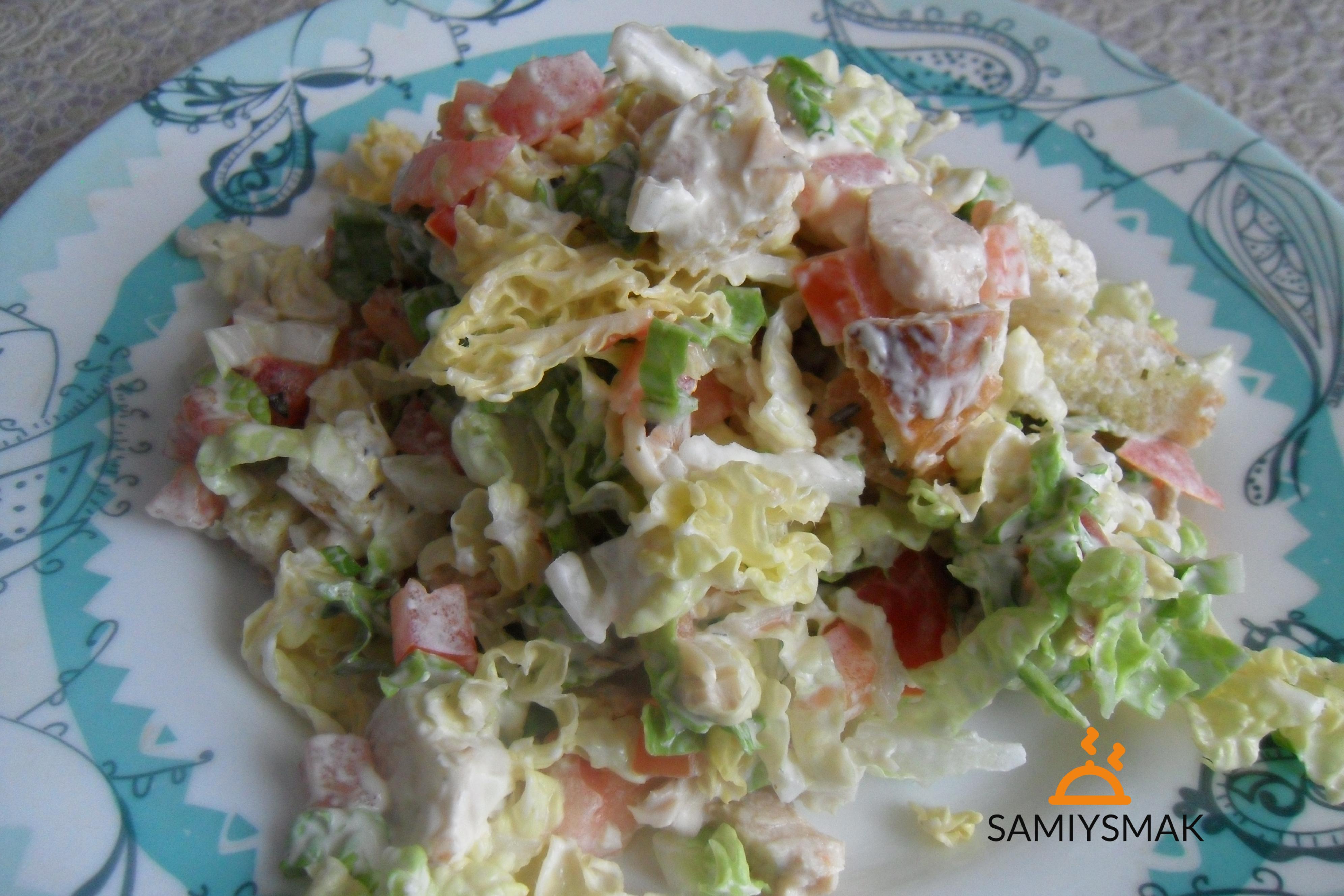 Капустный салат по простому рецепту