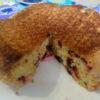 Заливной пирог с жимолостью