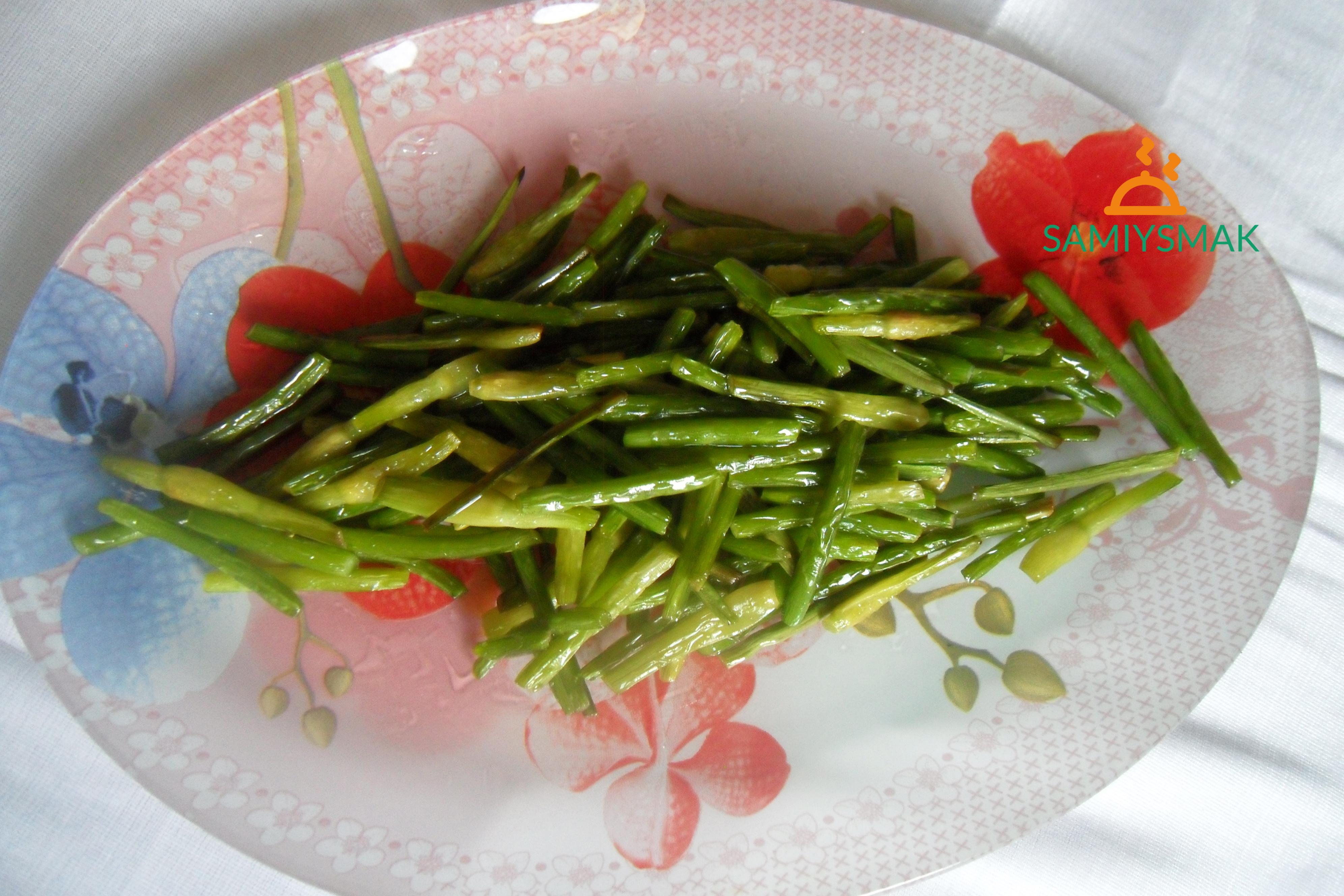 Вкусные стрелки чеснока на обед