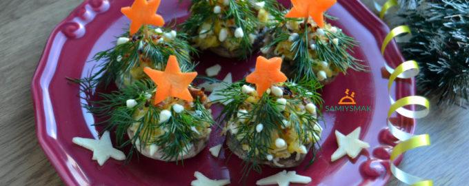 Елочки на Новый год из грибов