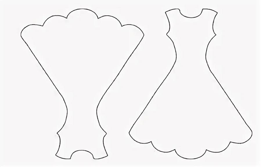Шаблон для платья из картона