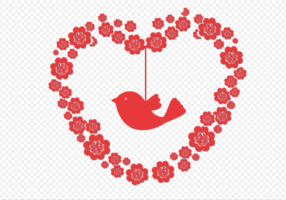 Сердце для открытки