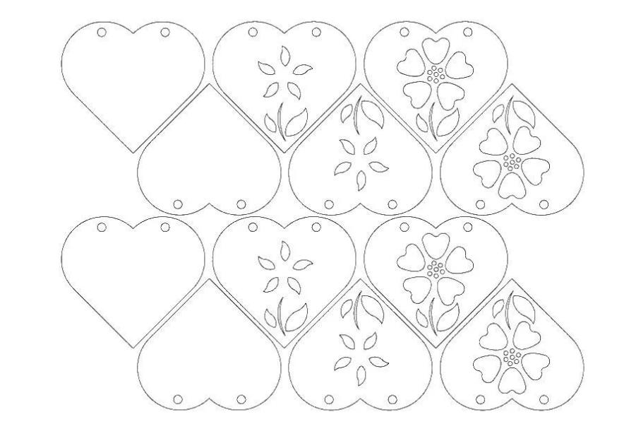 Сердце для маминой открытки