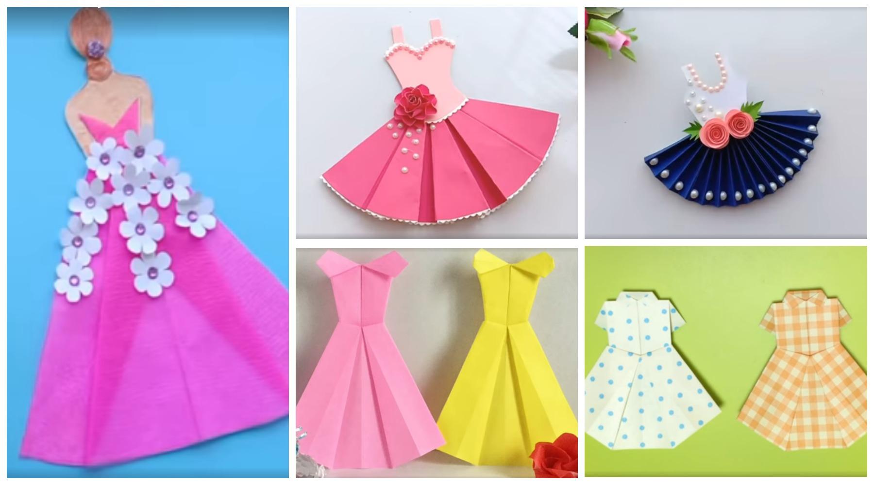 Открытка в виде платья