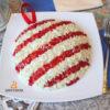Салат в виде шарика на елку