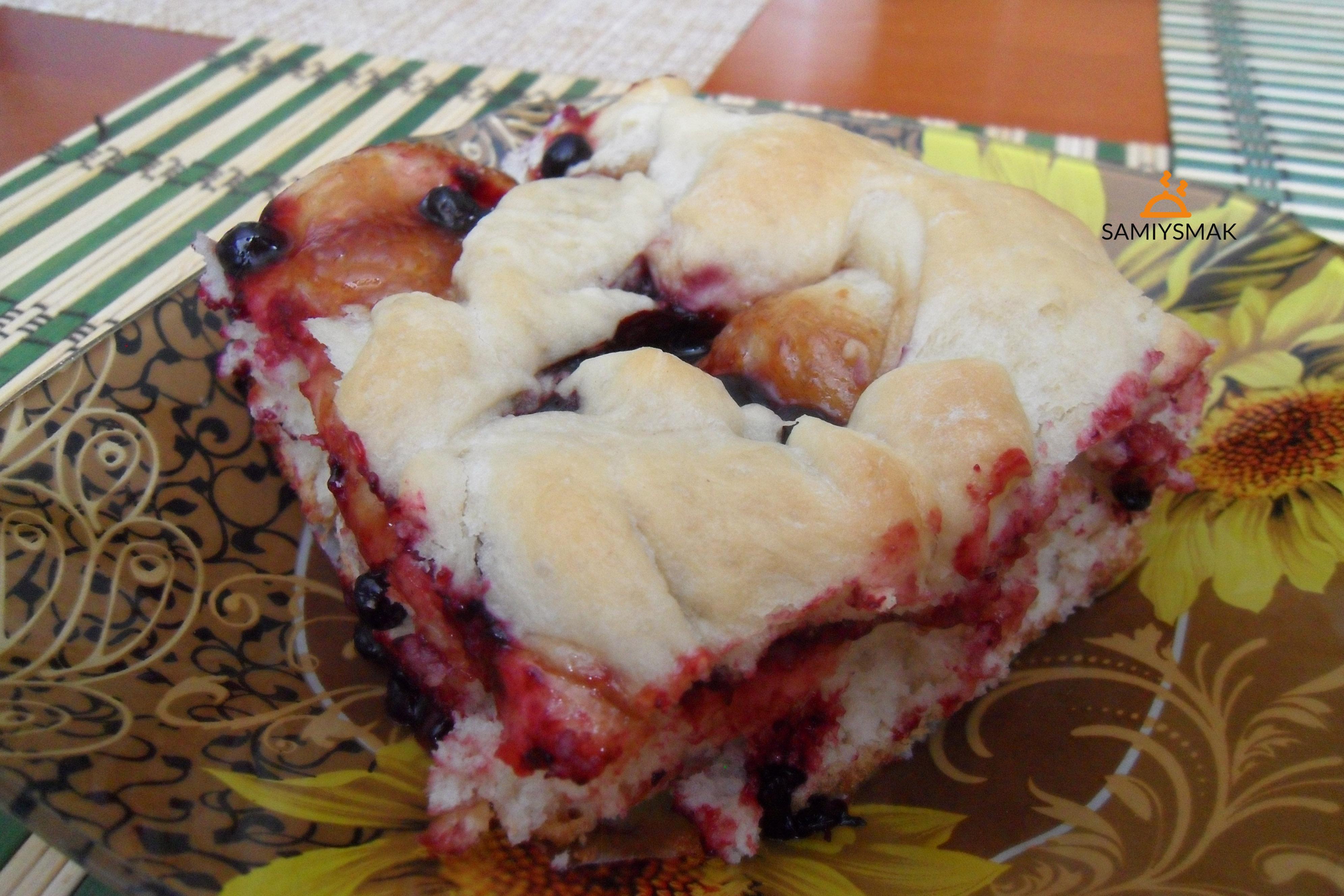 Пирог из дрожжей постный